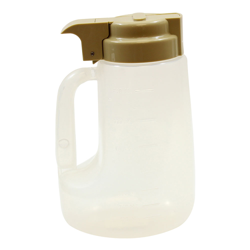 Tablecraft PP32BE 32-oz Pour Dispenser w/ Graduated Markings - Polypropylene, Beige