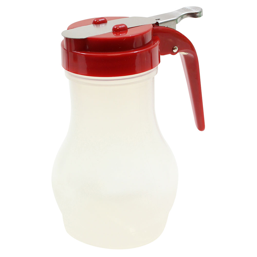 Tablecraft PP410RE 10-oz Syrup Dispenser - Polypropylene, Red