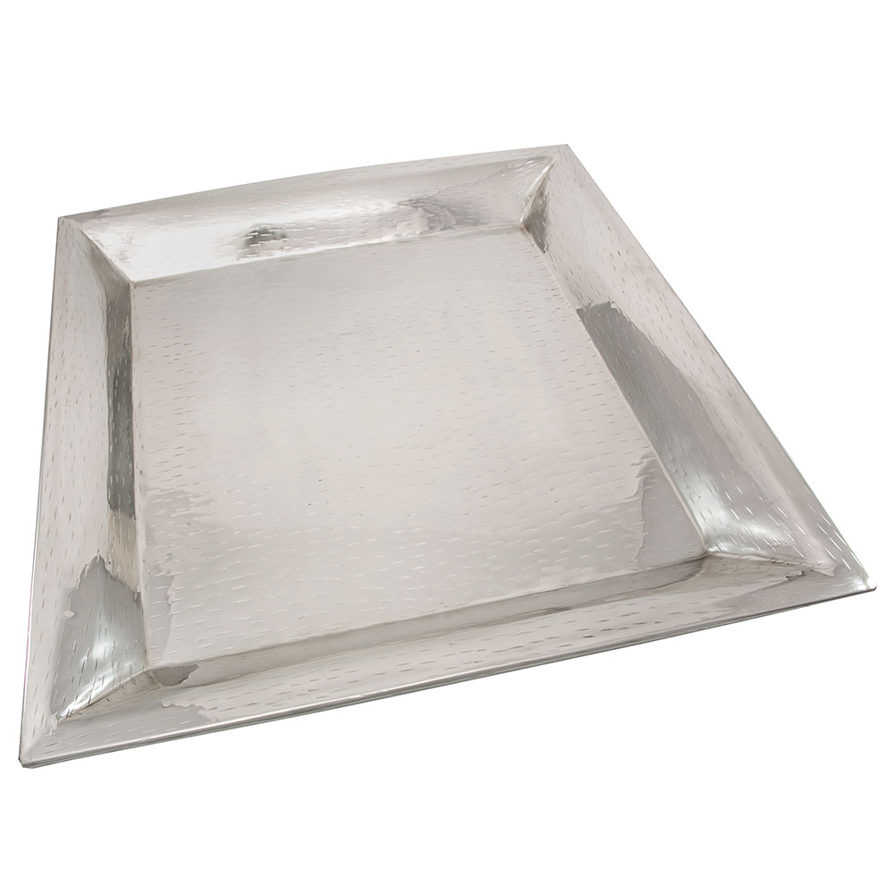 Tablecraft R2020 Remington Collection Tray, 20 in, Square, Stainless Steel