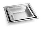 Tablecraft RB1515 Remington Collection Bowl, 15-1/2 in, Square, Stainless Steel