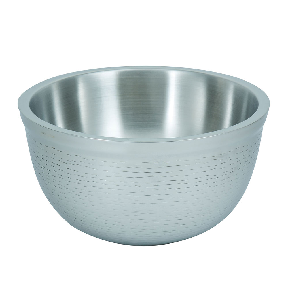 Tablecraft RB9 Remington Collection Bowl, 3-1/4 qt, Round, Double Wall, Stainless Steel