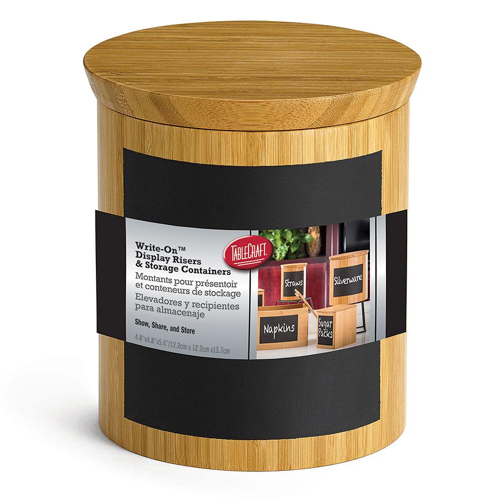 "Tablecraft RCBR555 Display Riser w/ Chalkboard, 5"" x 5"" x 5"", Bamboo"