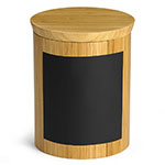 "Tablecraft RCBR668 Display Riser w/ Chalkboard, 6"" x 6"" x 8"", Bamboo"