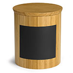 "Tablecraft RCBR9910 Display Riser w/ Chalkboard, 9"" x 9"" x 10"", Bamboo"