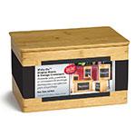 "Tablecraft RCBS1387 Display Riser w/ Chalkboard, 13"" x 8"" x 7"", Bamboo"