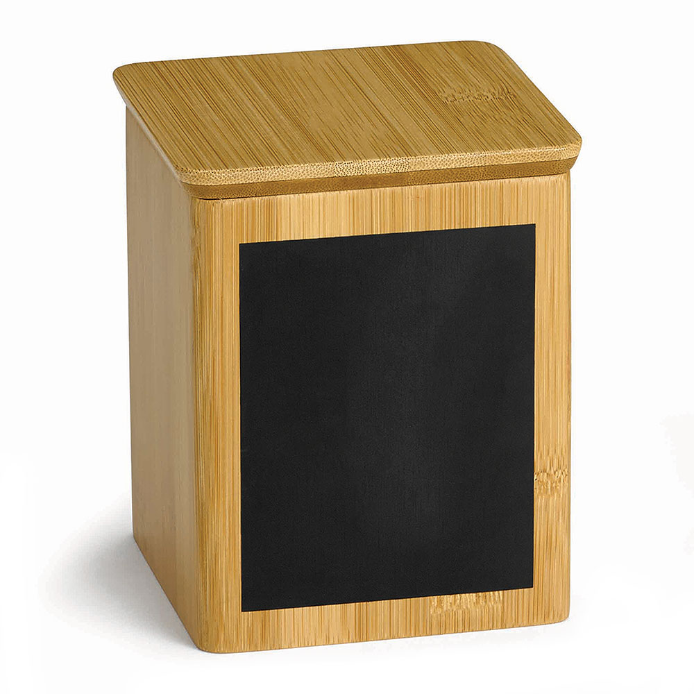 "Tablecraft RCBS445 Display Riser w/ Chalkboard, 4"" x 4"" x 5.5"", Bamboo"