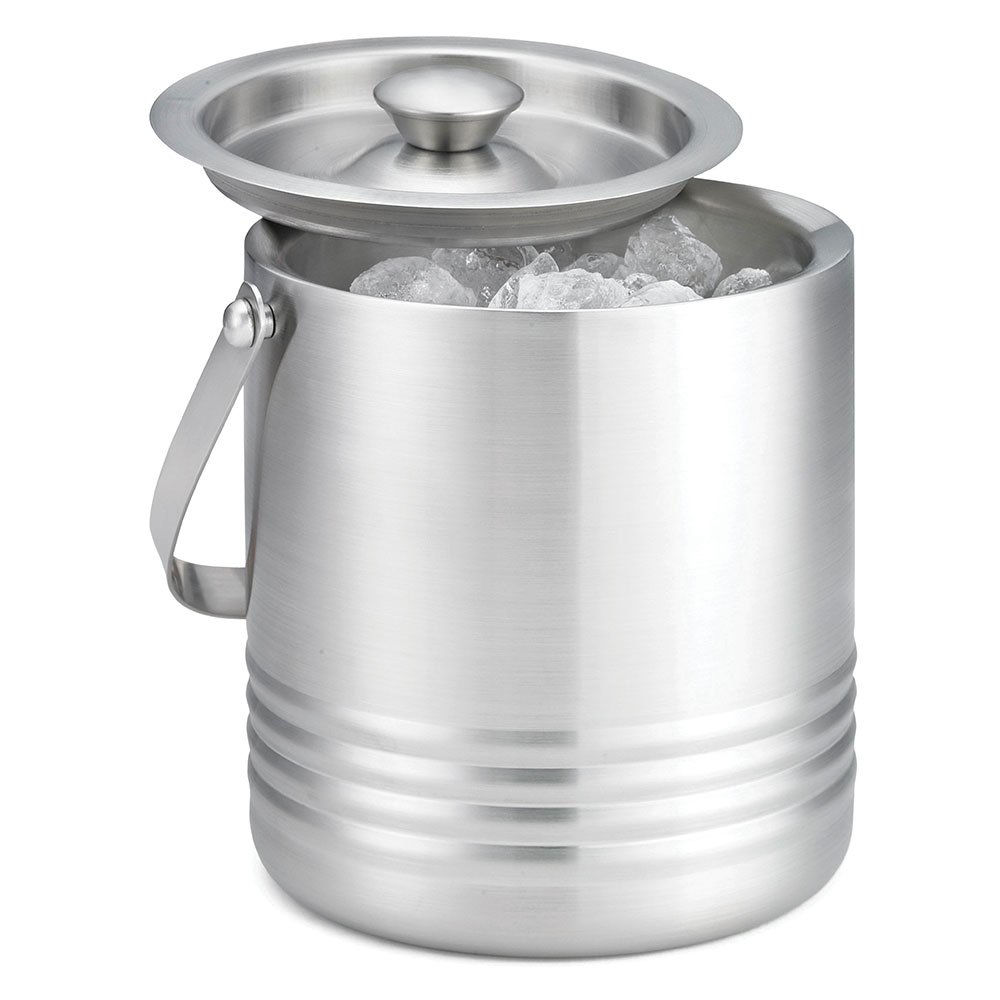 "Tablecraft RIB76 Ice Bucket w/ Double Wall Insulation, 7 x 6 x 6.5"", Stainless"