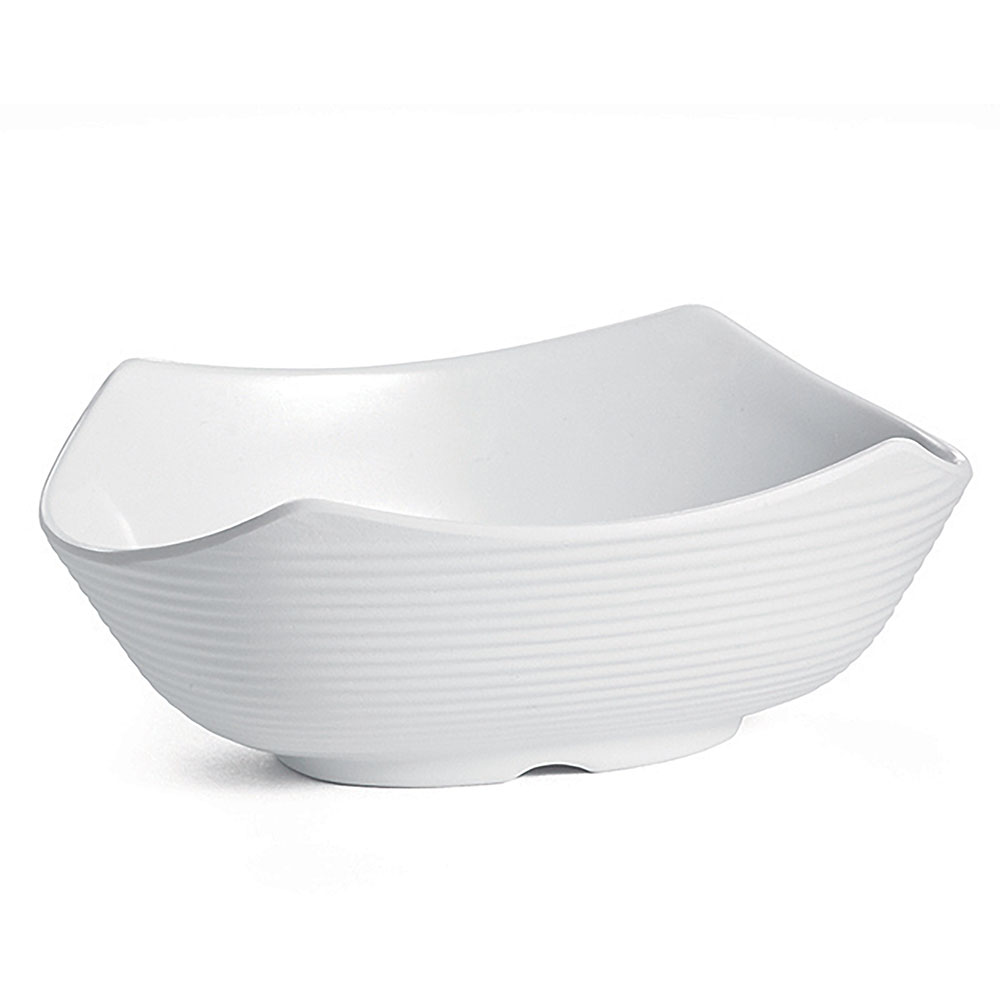 Tablecraft RIBW3W 3-oz Oval Sauce Bowl - Melamine, White