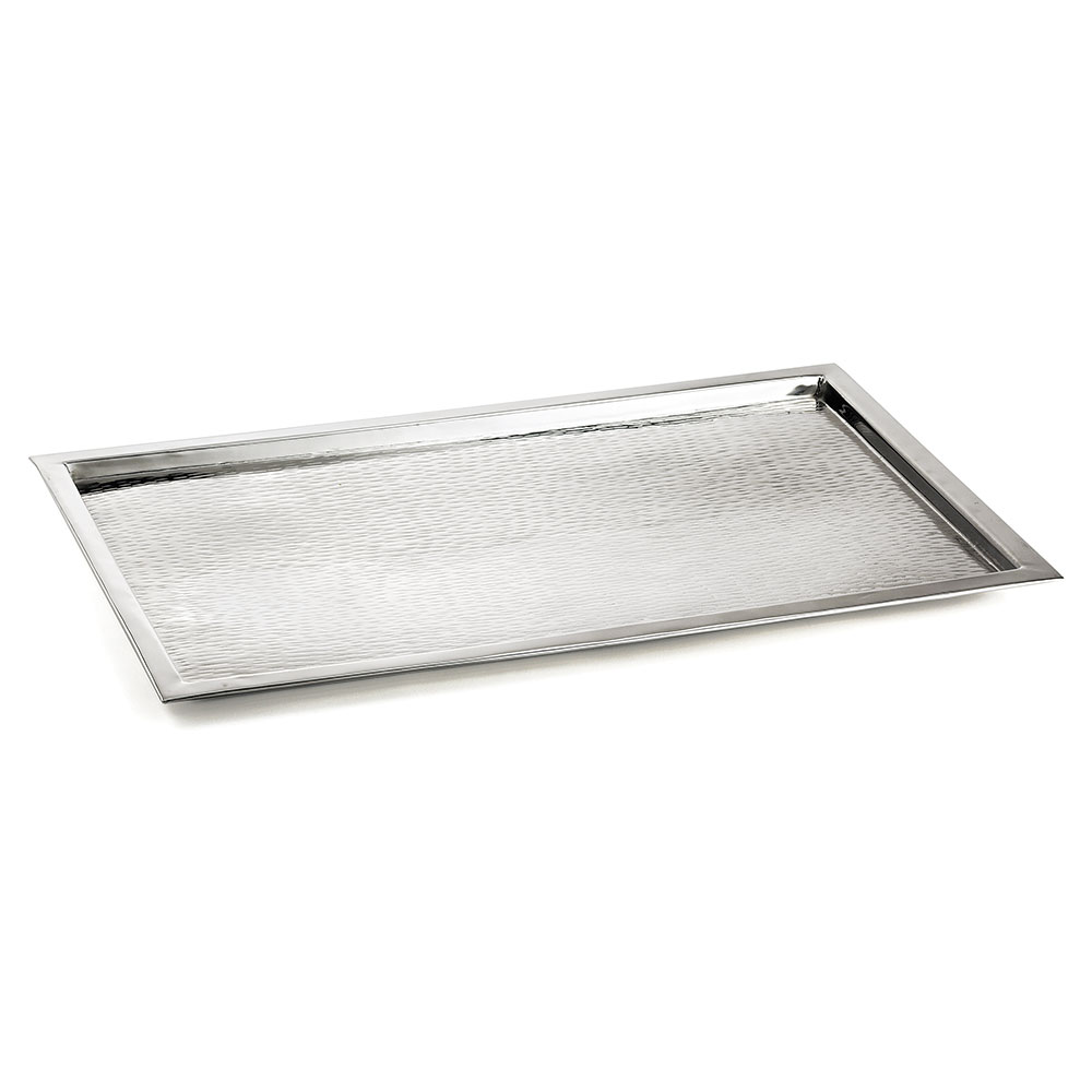 "Tablecraft RPD2415 Rectangular 18-8 Stainless Steel Tray, 23.25 L x 15 W x 1""H"