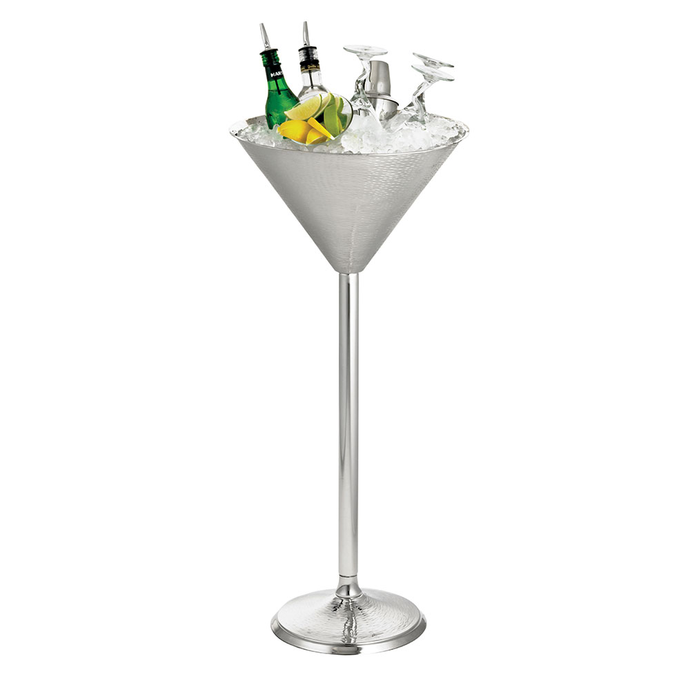 Tablecraft RS1432 Remington Collection Beverage Stand, 14-1/2 x 32-1/2 in, Martini Glass, SS
