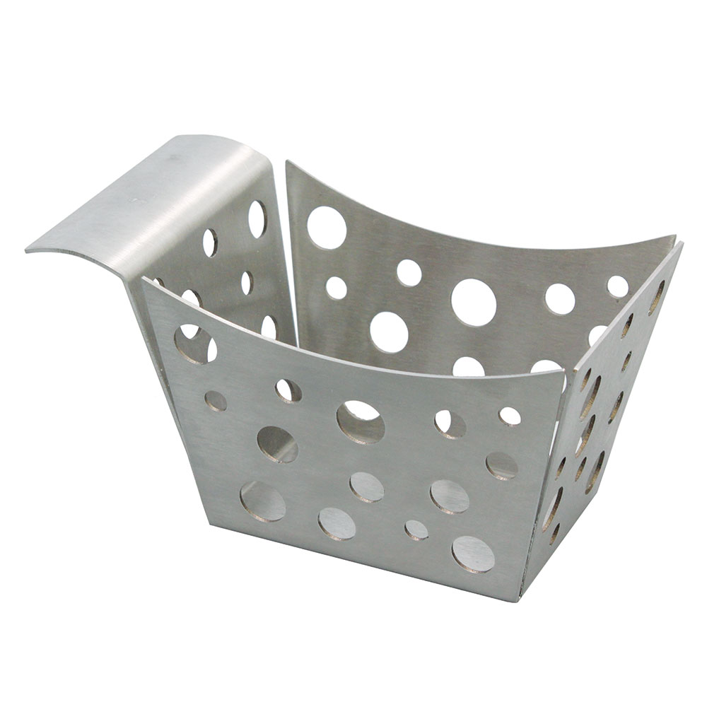 "Tablecraft SCB Rectangular Serving Basket w/ Stamped Circles, 5.5"" x 3.25"" x 3"", Stainless"