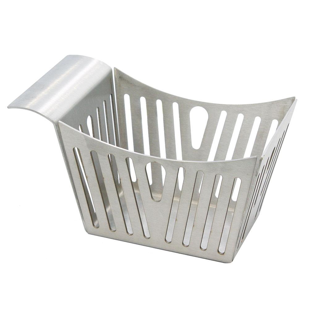 "Tablecraft SPB Rectangular Serving Basket w/ Stamped Pinstripes, 5.5"" x 3.25"" x 3"", Stainless"