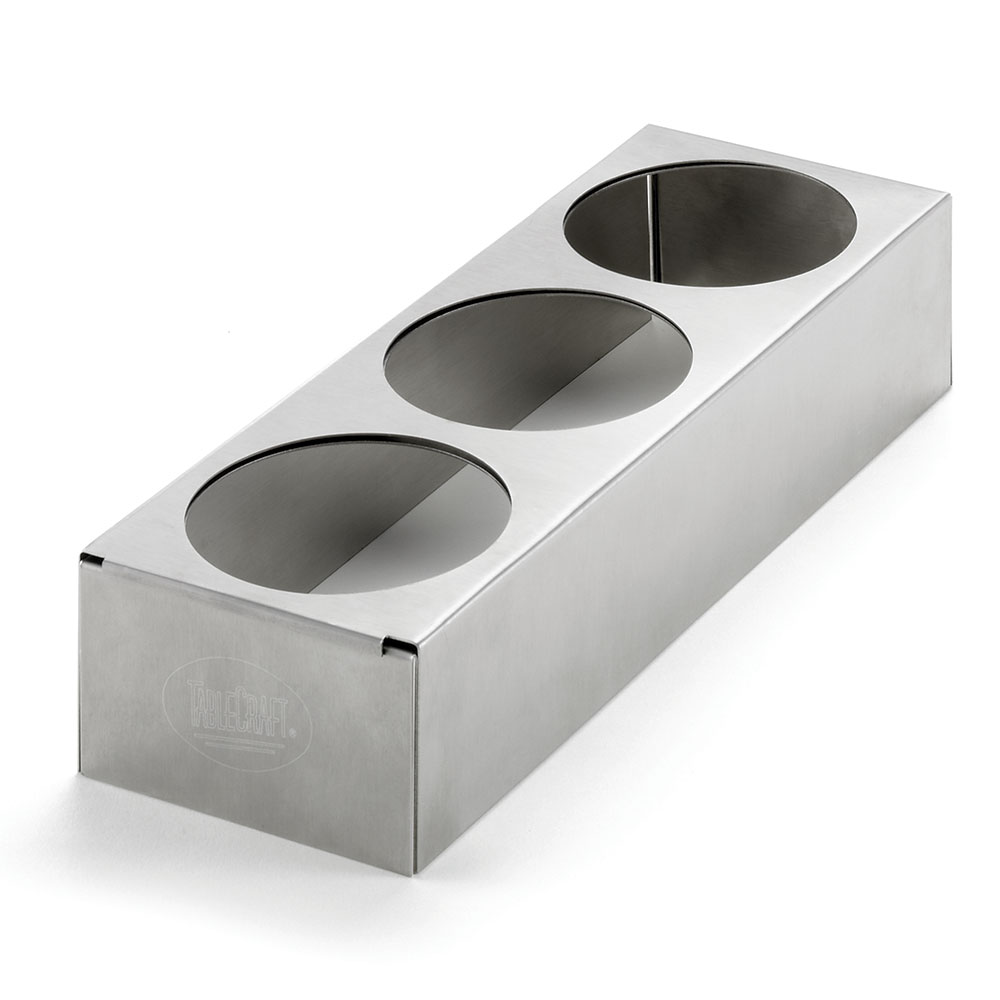 """Tablecraft T3456 Counter-Top Squeeze Bottle Holder - Expandable, 10-1/2x3-3/4x2"""" Stainless"""
