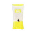 Tablecraft 1055 5-Gallon Beverage Dispenser, Polypropylene, Yellow