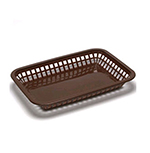 Tablecraft 1077BR Platter Basket, 10.75 x 7.75 x 1.5-in, Polypropylene, Brown
