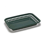 Tablecraft 1077FG Platter Basket, 10-3/4 x 7-3/4 x 1-1/2-in, Polypropylene, Green
