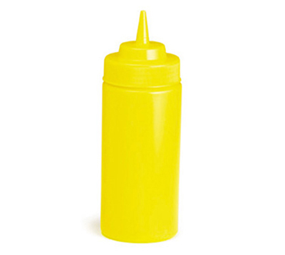 Tablecraft 10853M 8-oz WideMouth Squeeze Dispenser w/ Standard Tip, Mustard