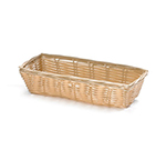 Tablecraft 1116W Handwoven Basket, 9 x 3-1/2 x 2-in, Polypropylene, Rectangular