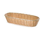 "Tablecraft 1118W Handwoven Basket, 15 x 6 x 3"", Polypropylene, Natural, Oblong"