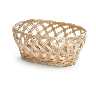 Tablecraft 1136W Handwoven Basket, 9-1/4 x 7 x 3-1/4-in, Polypropylene Cord
