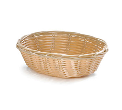 Tablecraft 1171W Handwoven Basket, 7 x 5 x 2-in, Polypropylene Cord, Oval