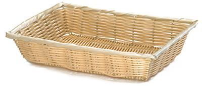 "Tablecraft 1189W Handwoven Basket, 16 x 11-1/4 x 3"", Polypropylene Cord, Natural"