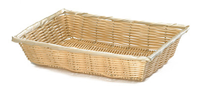 Tablecraft 1192W Handwoven Basket, 18 x 12-1/2 x 3-in, Polypropylene Cord, Natural