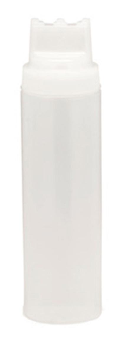 Tablecraft 12463C3 24-oz SelectTop Squeeze Dispenser, Natural, Three Tip Top