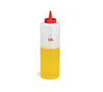 Tablecraft 125 24-oz Squeeze Dispenser, Oil Label Imprint w/ Gasket