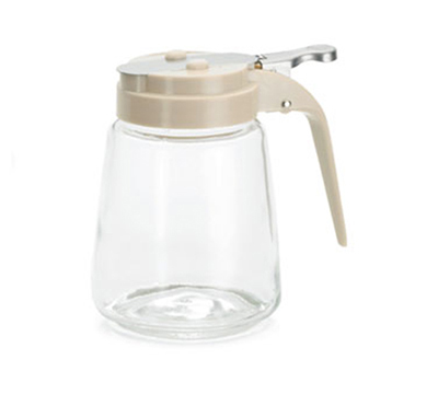 Tablecraft 1370A 8-oz Glass Dispenser, Almond ABS Top
