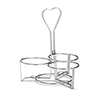 Tablecraft 1371R Dispenser Condiment Rack, 3 Ring Heavyweight Chrome Plated