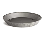 "Tablecraft 137512GM 12"" Round Platter Basket - Polypropylene, Gunmetal"