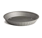 "Tablecraft 13759GM 9"" Round Platter Basket - Polypropylene, Gunmetal"