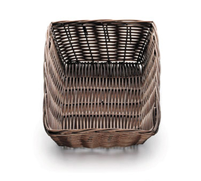 Tablecraft 1472 Handwoven Basket, 9 x 6 x 2-1/2-in, Polypropylene Cord, Brown