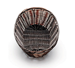 "Tablecraft 1474 Handwoven Basket, 9 x 6 x 2-1/4"", Polypropylene Cord, Brown"