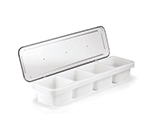 Tablecraft 1504 1-Pint Bar Condiment Holder,  18 x 5 x 3-in Lid, Polyethylene