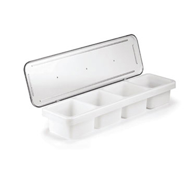 "Tablecraft 1504 1-Pint Bar Condiment Holder,  18 x 5 x 3"" Lid, Polyethylene"