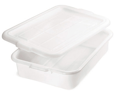 Tablecraft 1537N Polyethylene Food Storage Box, 21.25 x 15.75 x 7-in, White