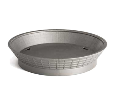 "Tablecraft 15759GM 9"" Round Platter Basket with Base - Polypropylene, Gunmetal"