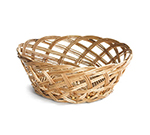 "Tablecraft 1635 Willow Basket, 9 x 3-1/3"", Round, Open Weave"