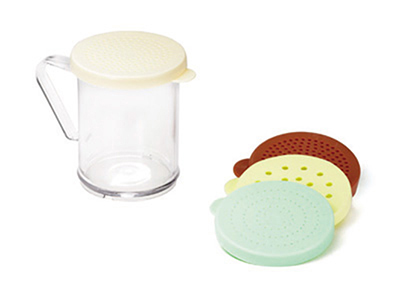 Tablecraft 166F 10-oz Dredge Shaker Set, Poly w/ Handle