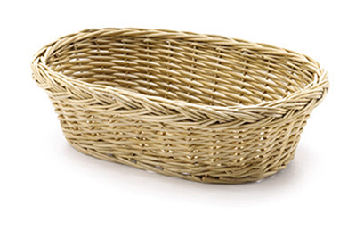 "Tablecraft 1674 Handwoven Willow Basket, 9-1/2 x 6-1/2 x 3"", Oval"
