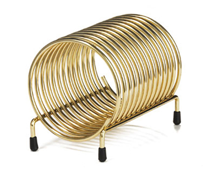 Tablecraft 171 Brass Plated Check Caddy, 4-1/2 x 3 x 3-1/4-in