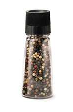 Tablecraft 174PG Pepper Grinder Top, 3-oz Glass Shakers