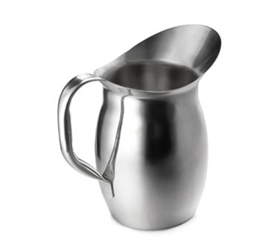 Tablecraft 203 3-Quart Bell Water Pitcher, Stainless Steel, Mirror Finish