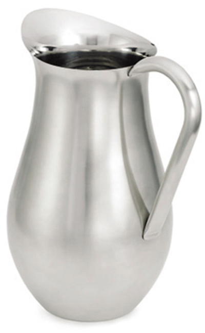 Tablecraft 204 3-Quart Bell Water Pitcher, Stainless Steel, Satin Finish