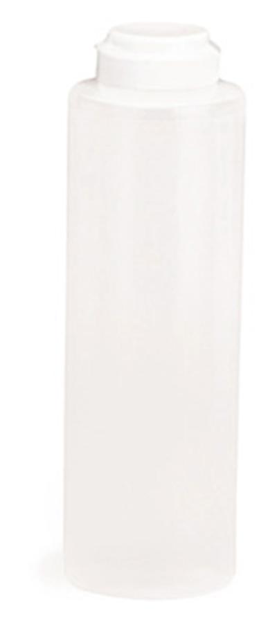 Tablecraft 2112C-1 28-oz Squeeze Dispenser, Soft Polyethylene, Natural, White