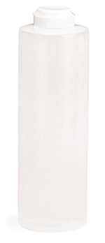 Tablecraft 2124C-1 24-oz Squeeze Dispenser, Soft Polyethylene, Natural, White