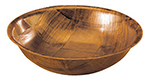 Tablecraft 216 16-in Woven Wood Salad Bowl, Mahogany Round Bottom, 5-Ply