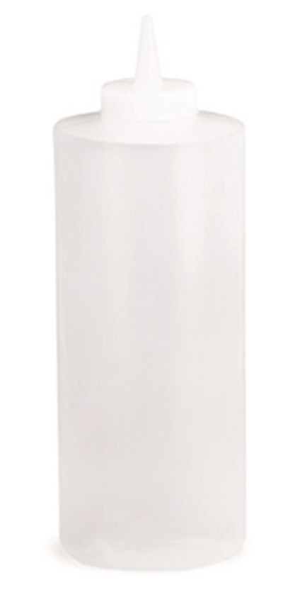 Tablecraft 233C 32-oz Squeeze Bottle, Soft Polyethylene, Natural, WideCone Tip